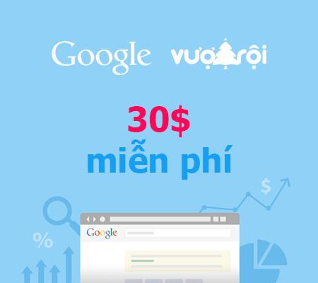 vuottroi-vn-tang-30-mien-phi-quang-cao-google-adwords